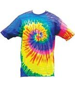 NEON RAINBOW TYE DYED TEE SHIRT men womens SIZE LG hippie tie dye NEW SW... - $9.49