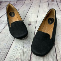 CLARKS Artisan Concert Jazz Black Suede Comfort Flats Slip On 6.5M 26103769 - $28.87