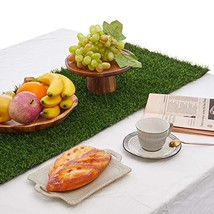 Synthetic Grass Table Runner 14 x 144 inch, Perfect for Spring Fall Summ... - $53.69