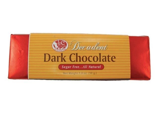 Keto Candy: LC Foods Dark Chocolate Bar 4 pack low carb (3 net carbs)