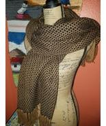 Alpaca Unisex Scarfs Collection Brown Black - $48.00