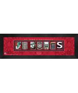 Personalized St. John's  University Campus Letter Art Framed Print - $39.95