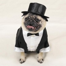 Tux with Tails and Top Hat Pet Costume - £19.56 GBP