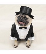 Tux with Tails and Top Hat Pet Costume - £20.01 GBP
