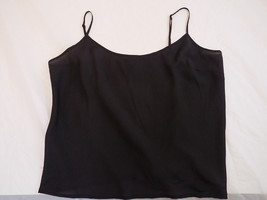 Women's Cami Talbots Petite Black Top Sz Large Adjustable Shoulder Straps - $9.89