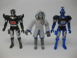 3 Bandai 1997 BeetleBorgs Figures Blue Stinger Shadowborg Noxic  - $29.99