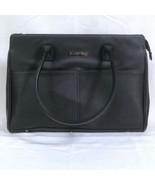 Mary Kay Bag Black Vinyl Large Zippered Tote Floral Liner FromStarter Kit New - $18.61
