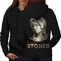 Stoned Weed Stoner Rasta Sweatshirt Hoody Ancient Women Hoodie Back - $21.99+