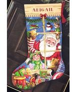 Dimensions Santas Toys Shop Window Christmas Eve Cross Stitch Stocking K... - $54.95