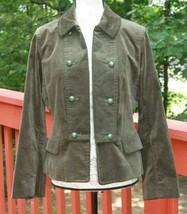 Talbots Size 12 P Petites Olive Green Velvet Velour Grace Fit Jacket NWT... - $28.25