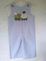 STELLYBELLY Simone man cho Boy Overall Long-All Smocked 18 Months - $19.99
