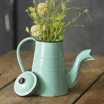 Baby Blue Vintage Reproduction Coffee Pot With Lid Country Coastal Cabin... - $34.95
