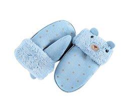 Fashion Mittens Plush Gloves Warm Winter Mittens Children Hanging Neck Gloves