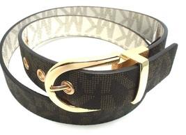 Michael Kors Women's Reversible Belt Monogram Chocolate Vanilla Faux Lea... - $47.99
