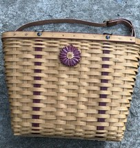 Longaberger 2004 Mothers Day Weekend Tote Basket Combo w Straps Heirloom - $45.00