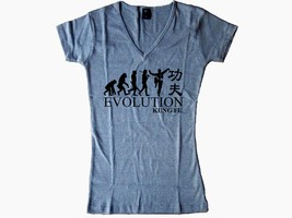 Kung fu Kungfu Evolution Chinese Script martial arts gray women or teens... - $13.99