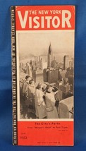 Vintage The New York Visitor Travel Brochure June 1953 w/ Map - $10.88