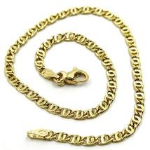 """18K YELLOW GOLD BRACELET WAVY TYGER EYE LINKS 2.8mm, 0.11"""" LENGTH 19cm, ... - $218.00"""