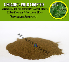 POWDER Chinese Elder Elderberry Sweet Javanese Elder Flowers Sambucus Ja... - $7.85+
