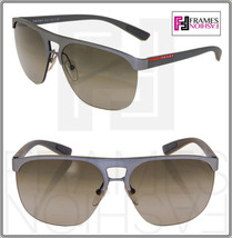 PRADA LINEA ROSSA 53Q Sport Square PS53QS Grey Brown Gradient Sunglasses... - $236.61