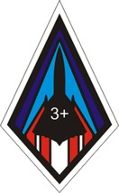 """Official USAF SR 71 3+ Decal 2.46"""" Wide x 4"""" High - $11.87"""