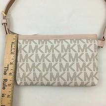 NWT $68 Michael Kors MK Signature Logo Vanilla Ballet Belt Bag Fanny Pack Size M - $37.36