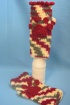 Fingerless Gloves Mittens Ladies Dog Paw Print Handmade Crochet by Bren - $15.00