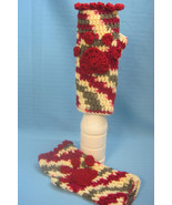 Fingerless Gloves Mittens Ladies Dog Paw Print Handmade Crochet by Bren - $15.00
