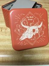 "New Fossil Watch Tin Box ""Empty"" No Bad Days Theme ""Orange Desert"" Collectible - $12.99"