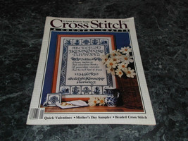 Cross Stitch & County Crafts Magazine January February 1986 Paper Hearts - $2.99