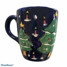 Gibson Large 20 oz. Blue Christmas Tree Coffee Tea Mug #109 Limited Edition - $5.90