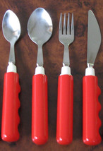 Kinsman Comfort Grip Utensils - Red Handle - Each or Set - #1184x - $18.99+