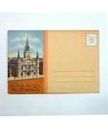 Vintage New Orleans LA ST LOUIS CATHEDRAL Fold-Out Postcard Views Folder... - $6.99