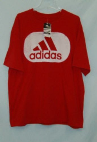 Adidas Mens P56248 Extra Large University Red Tee Shirt