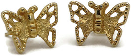 MADAME BUTTERFLY RARE! Goldtone  Pierced Earrings  Unsigned Sarah Coventry - $18.97