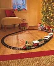 20-Pc. Set Lighted Christmas Train Santa Realistic Sounds Under Tree Decor - $50.11