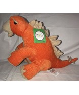 "Dinosaur Orange Tan Plush Stuffed Animal Adventure 14"" Soft Sweet Sprout... - $21.77"