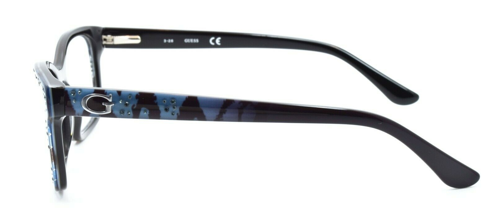 GUESS GU2553 005 Women's Eyeglasses Frames 53-16-135 Black w/ Sparkles + CASE