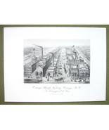 NEW YORK Oswego Starch Factory - 1876 Original Engraving Print - $19.09