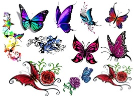 Butterfly C2  Temporary Tattoos  - $11.00