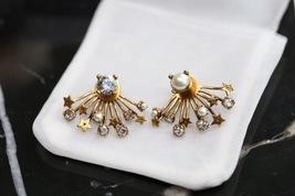 SALE* NEW AUTH Christian Dior 2019 CD DIORAINBOW CRYSTAL LOGO STAR Earrings image 5