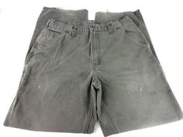 Carhartt Pants Original Dungaree Fit Moss 33x31 Distressed - $19.26