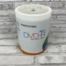 Memorex DVD-R 16X 4.7GB 120 Minute 100 Pack Spindle SEALED NEW - $27.49