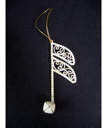 Metal Musical Note Ornament - Gold Thread Hanger - $5.99