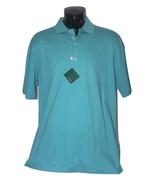 NWT BOBBY JONES M Golf polo shirt men's green teal soft cotton high-end - $46.55