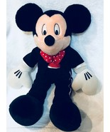 "Walt Disney Valentine Mickey Mouse 18"" Plush Red Polka Dot Hearts Bow-Ti... - $25.73"