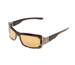 Alexander McQueen Brown AMQ 4018/S Lace Print Square Sunglasses BNWT/Case  $399 - $89.75