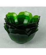 Set of 5 Vintage Plastic Green Dishes Made in Japan - $12.66