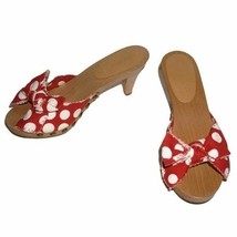 Miu Miu Canapa St Pois In Pap/latte Red Sandals 6.5 - $60.78