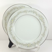 """Noritake Donegal Bread and Butter Plates Set of 2 White with Daisies 6-5/8"""" - $10.83"""